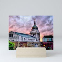Old Bailey in London Mini Art Print