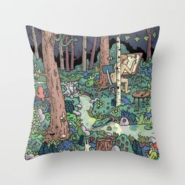 Artist in the Wild Throw Pillow
