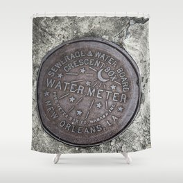 New Orleans Watermeter in Color Shower Curtain