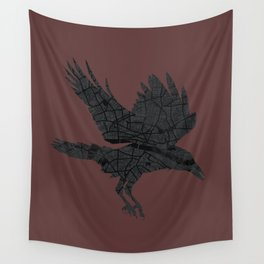 London, as the Raven Flies Wall Tapestry