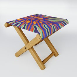 Monstera Flying to Summer Folding Stool
