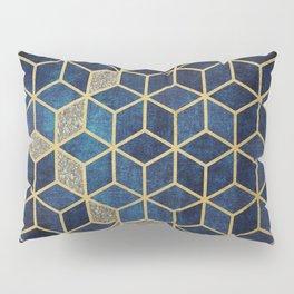 Shades Of Blue Cubes Pattern Pillow Sham