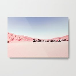 sand desert with blue sky at Antelope Canyon, USA Metal Print