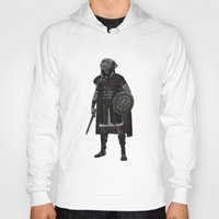 gladiator Hoodies featuring Neapolitan Mastiff Gladiator  by Barruf