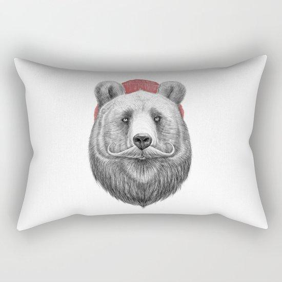bearded bear Rectangular Pillow