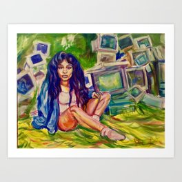 SZA CTRL Art Print