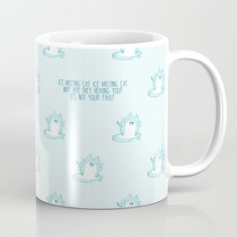 Kawaii Ice melting cat pattern Coffee Mug