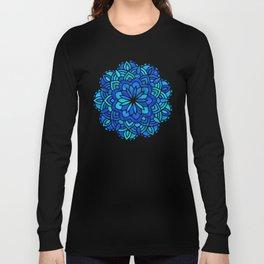 Mandala Iridescent Blue Green Long Sleeve T-shirt