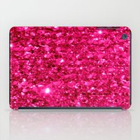 sparkle iPad Cases featuring SparklE Hot Pink by 2sweet4words Designs