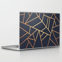 copper Laptop & iPad Skins featuring Copper and Midnight Navy by Elisabeth Fredriksson