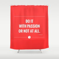 passion Shower Curtains featuring Passion. by Amazers
