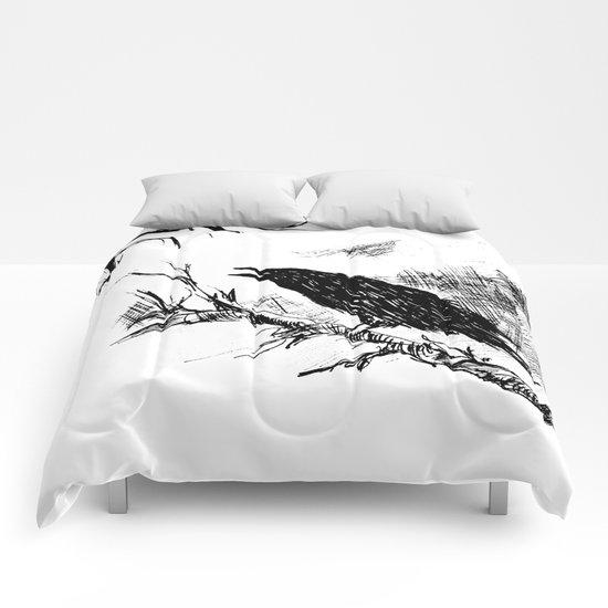 Crow edit version 2 Comforters