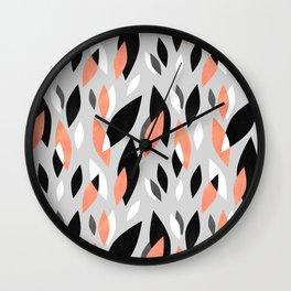 Falling Leaves Pattern Wall Clock