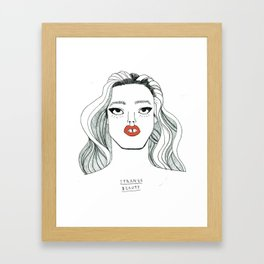 """Georgia Jagger"" screen printed Tote bag Framed Art Print"