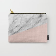 Marble and pale dogwood color Carry-All Pouch