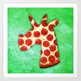 Unicorn Pizza Art Print
