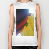 hot air balloons Biker Tanks featuring Hot Air Balloons by merialayne