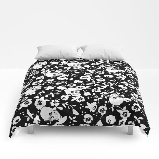 Skull Flowers Comforters