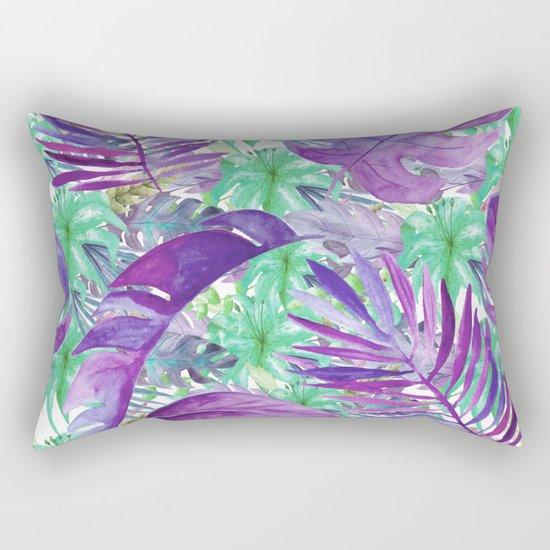 purple jungle Rectangular Pillow