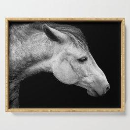 Casper   Horse Photography   Animal Art   Minimalism   Nature   black-and-white Serving Tray