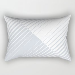 gradient stripes triangles in ice gray and white Rectangular Pillow