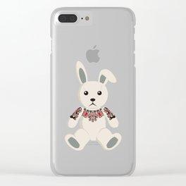 Haida tattooed bunny rabbit Clear iPhone Case