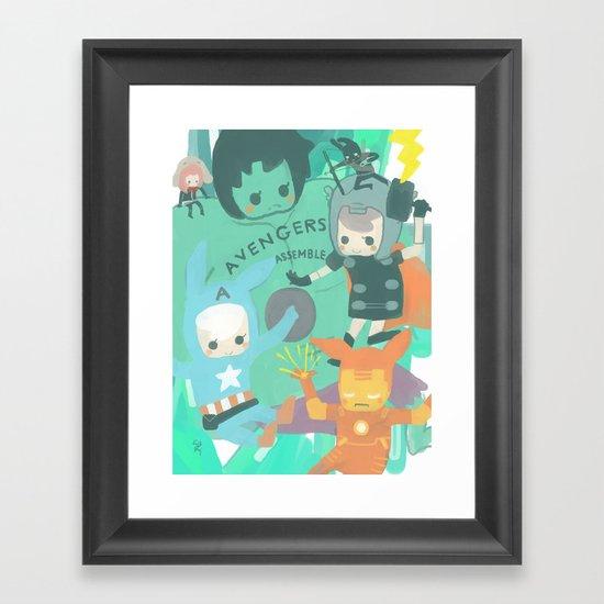 Avengers Assemble. Framed Art Print