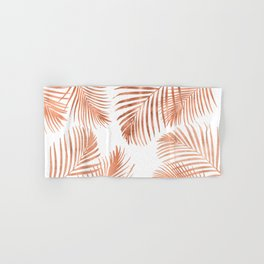Rose Gold Palm Leaves Hand & Bath Towel