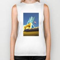 crane Biker Tanks featuring crane by dclick