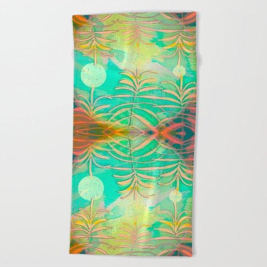Floral Pollination Beach Towel