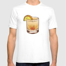 DRINK  Mens Fitted Tee White MEDIUM
