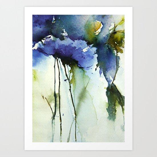 Blue passion Art Print