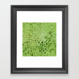 Green galaxy pattern Framed Art Print