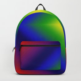 Rainbow Gradient Diamond Geometric Backpack