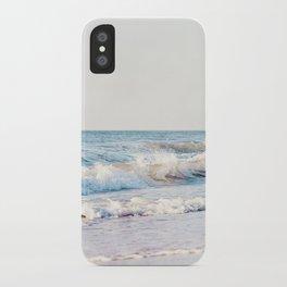 Pale Ocean Photography, Blue Seascape Photograph, Ocean Waves Photo Print iPhone Case