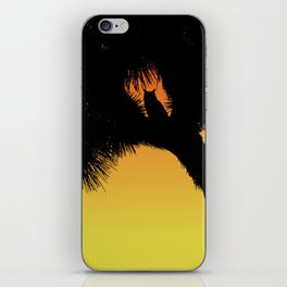 Great Horned Owl in a Joshua Tree Silhouette at Sunset iPhone Skin