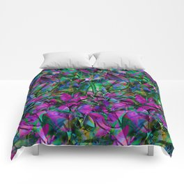 Floral Abstract Stained Glass G276 Comforters