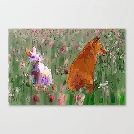 The hare and the fox Canvas Print