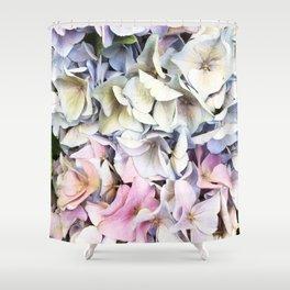 Hydrangea pastel Shower Curtain