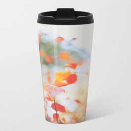 . Orange Leaves . Metal Travel Mug