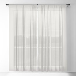 Sherwin Williams Trending Colors of 2019 Origami White (Off White) SW 7636 Solid Color Sheer Curtain