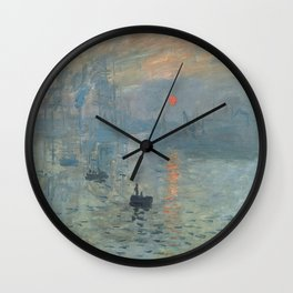 Claude Monet's Impression, Soleil Levant Wall Clock