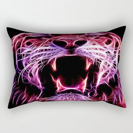Fire Tiger Rectangular Pillow