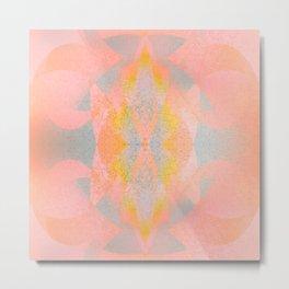 Abstract Zen - Pink and Grey Metal Print