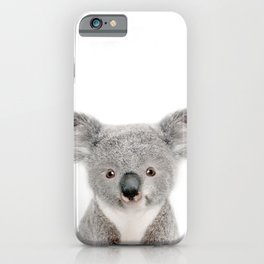 Baby Koala Portrait iPhone Case