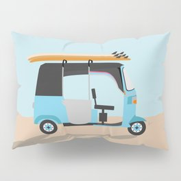 Surf Tuk Tuk in Sri Lanka Pillow Sham