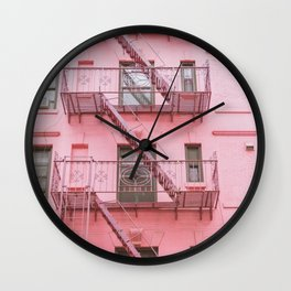 Pink Soho NYC Wall Clock