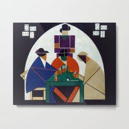 Card Players - Theo van Doesburg Metal Print