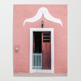 Pink House in Mexico Poster