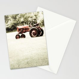 Vintage Red Tractor Stationery Cards